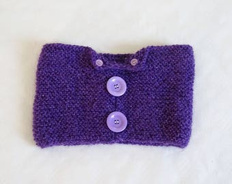 Snood with mohair for girl, neckband, scarf, purple snood, girl snood, girl scarf, violet scarf, girl gift, girl fashion