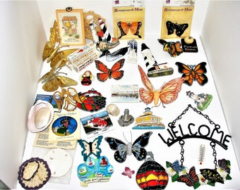 Lot Butterflies n  Craft Items Lots Of Items For Great Price