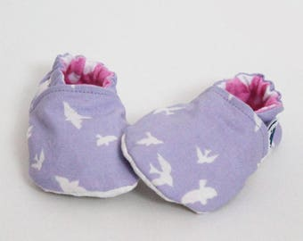 0-6 months - Crib shoes, Cute Baby Slippers, Flannel, Cotton, Soft sole moccasins, Toddler, Shower gift, Kids, Children, Christmas
