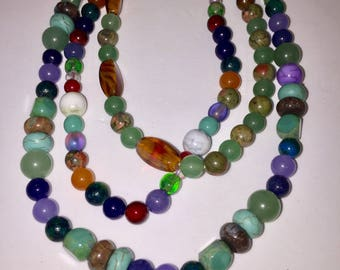 Multi-Stone Necklace Set