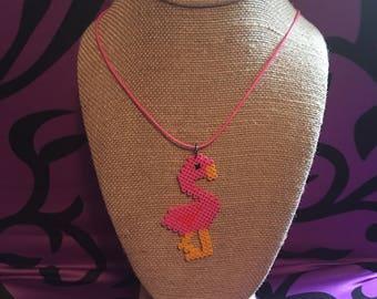 Flamingo beaded necklace