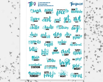 Turquoise Typography Sampler [257]