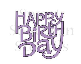 Happy Birthday Cookie Stencil