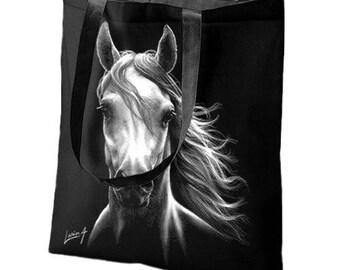 Bag Tote - Tote bag - white horse