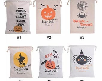 Personalized Halloween sack, Halloween basket, Halloween bag, Halloween decor, Pumpkin bag, witch basket, Halloween candy bag