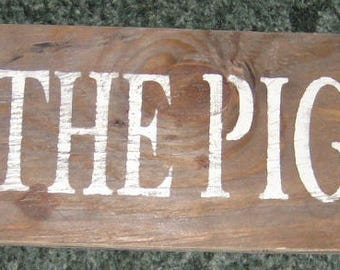 The Pig Pen....... Wall Plaque Hanging /Country sign/primitive/horse/cows/ranch/farm