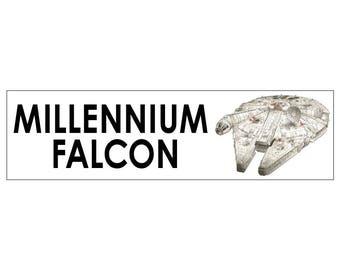Millennium Falcon Decal Vinyl or Magnet Bumper Sticker