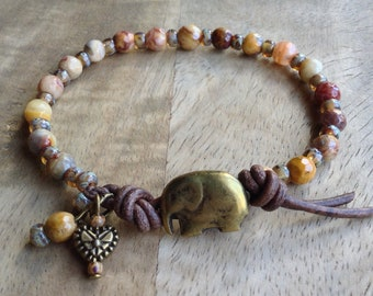 Bohemian bracelet hippie bracelet boho chic bracelet gift for her gypsy bracelet womens jewelry boho chic jewelry beaded gemstone jewelry