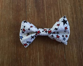 Patriotic 4th of July pet bow tie for dog cat or rabbit