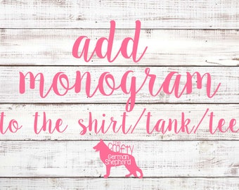 Add monogram to a shirt order