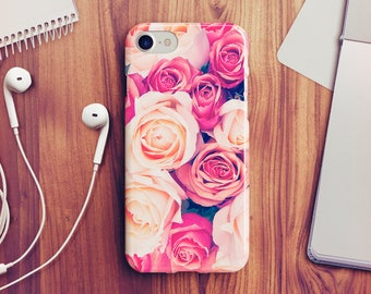 Pink Roses iPhone 7 Case iPhone 8 Case iPhone X Case iPhone 7 Plus Case iPhone SE Case iPhone 8 Plus Case iPhone 6 Case iPhone 5s Case