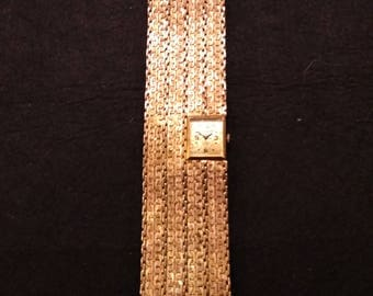Vintage Pedre Gold 17 jewels Ladies Wind-Up Mechanical Bracelet Swiss watch, 12k gold filled band