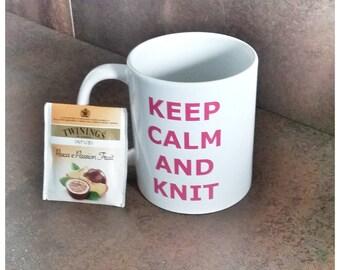 Mug Keep Calm and knit