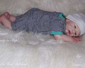 Reborn baby , 20' Tanner , magnetic pacifier, Ready to ship.