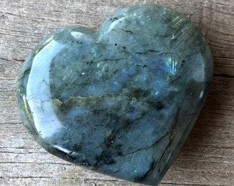 Labradorite heart- 382 g
