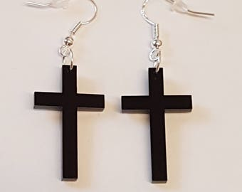 Cross Earrings - Acrylic