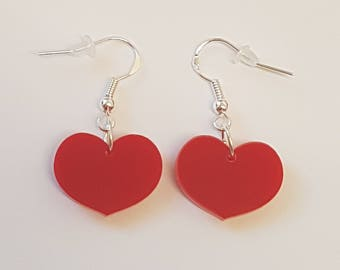 Heart Earrings - Acrylic