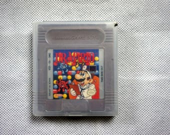 Dr. Mario for Nintendo Gameboy with Clear Case - GB Game Cartridge 1990s