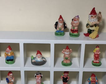 Miniature Dollhouse Naughty Gnomes Decor (Feves) - sold separately