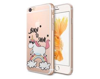 Unicorns Clear Phone Case - Transparent Case - Clear Case - iPhone 8 - iPhone 7 Plus - iPhone 7 - iPhone X - Unicorns - CaseLoco