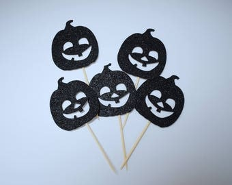 "Cake Toppers for cupcakes ""Pumpkins"""
