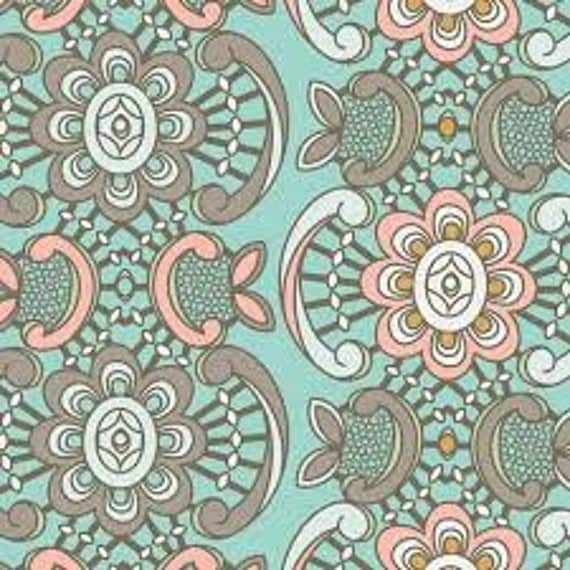 Art Gallery Drift  Seafoam Lace 1/2 yard