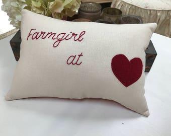 Pillow for a farmhouse style girl