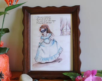 """A4 poster illustrated """"Tooth fairy, tooth fairy"""" with poem"""