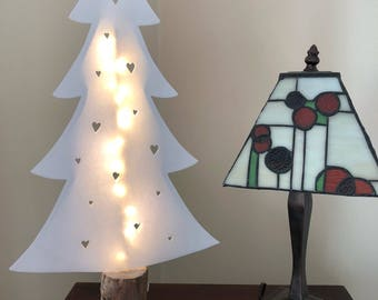 Fabric light-up christmas tree