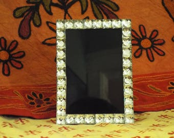 All sparkly black scrying mirror