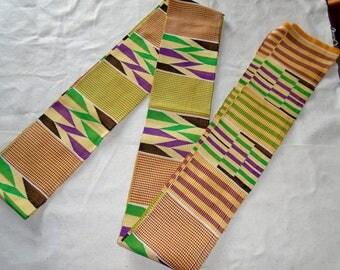 Kente Cloth Strip, Extra Long, Ghana Africa