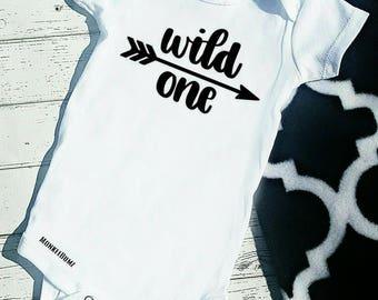First Birthday Shirt, Wild ONE, First Birthday Outfit, Black, White, One, Birthday Shirt, Boy Birthday shirt