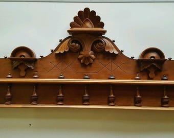 Antique Vintage Victorian Header Pediment Mantel Mantle Firelace Entry Door Home Decor Accent Piece