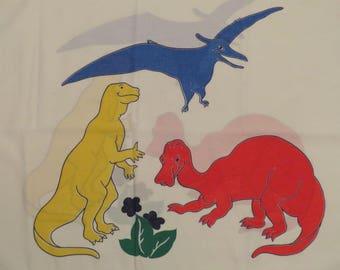 Vintage Colorful Dinosaurs standard pillowcase