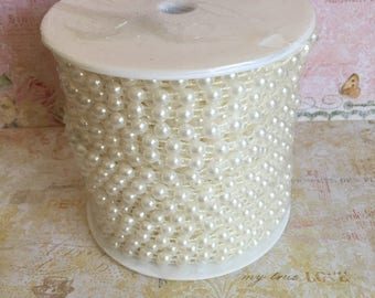 1 yard of pearl trim, pearl beaded trim