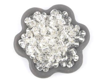 20grs 4x3.5mm silvery clear seed beads (27)