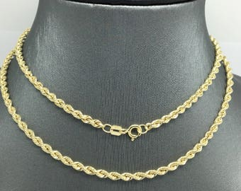 14K Yellow Gold Rope Chain ~2.70mm