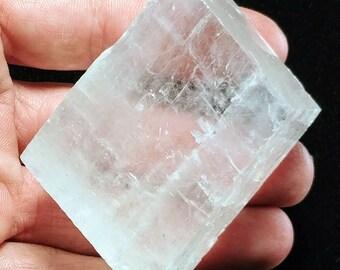 Large Rainbow Optical Cubic Calcite - Iceland Spar