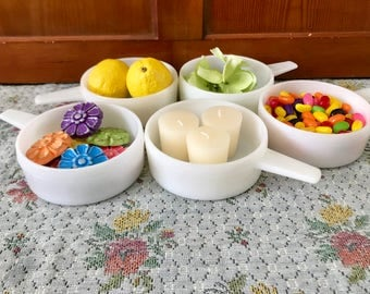 Milk Glass Bowl White Bowls Candy Dishes for Wedding Party Favor Soup Bowls Chili Bowls Small Bowls Candy Buffet Candy Bar Custard Cups