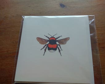 Bumble Bee blank greetings card
