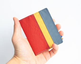 Minimalist wallet, Vegan wallet, Mens wallet, Womens wallet, Mens bifold wallet, Slim wallet, Slim vegan wallet