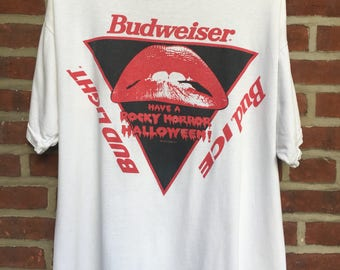 Vintage Rocky Horror Picture Show Budweiser t shirt