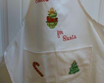 SALE!  Christmas Apron - Cookies for Santa