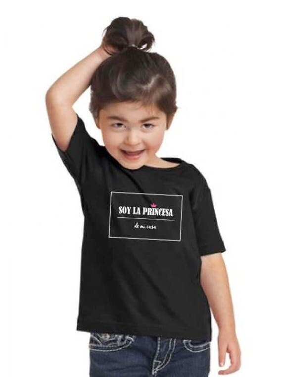 Girl black t-shirt SOY LA Princesa de mi casa