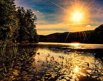 Adirondack Photo, Lake Photograph, Landscape Photograph, Eagle Lake, Adirondack Mountains, Nature Print, Adirondack Decor, Sunrise Photo
