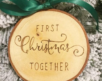 First Christmas Together Personalized Wood Slice Christmas Ornament; Couples' First Christmas. Mr and Mr; Mrs and Mrs; Mr and Mrs. New Home.
