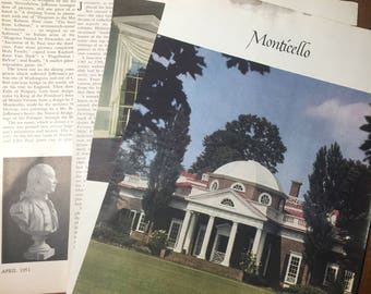 MONTICELLO, Jefferson's Works of Art. Antiques MAGAZINE 1951