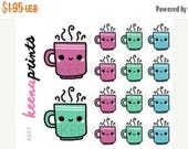 20% OFF A681   COFFEE Mug Stickers - Daily Planner Stickers, Diary Stickers, Journal Stickers, Scrapbook stickers