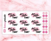 20% OFF A492 | TEA Time Stickers - words Daily Planner Stickers, Diary Stickers, Journal Stickers, Scrapbook stickers