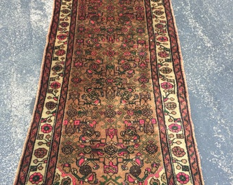 Persian Bijar Antique Runner Rug 3 x 6.10